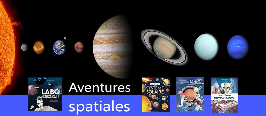 Bannière Livres aventures spatiales